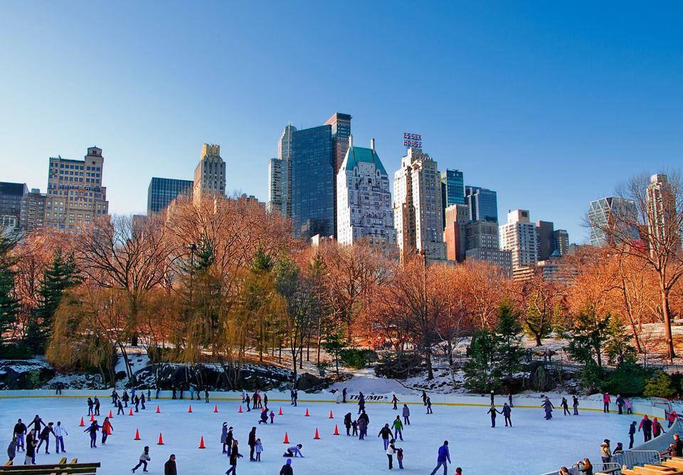 People skating at Central Park
