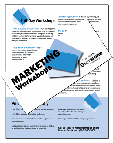 Organization brochure