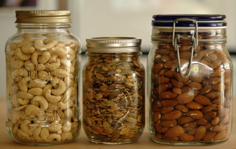 Nuts and Seeds in Jars