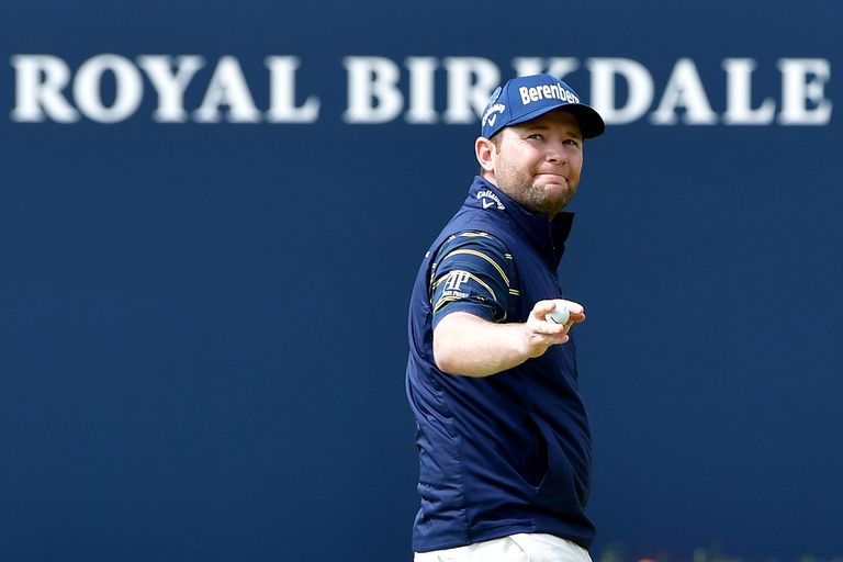 Branden Grace after finishing his 62 at the 2017 British Open