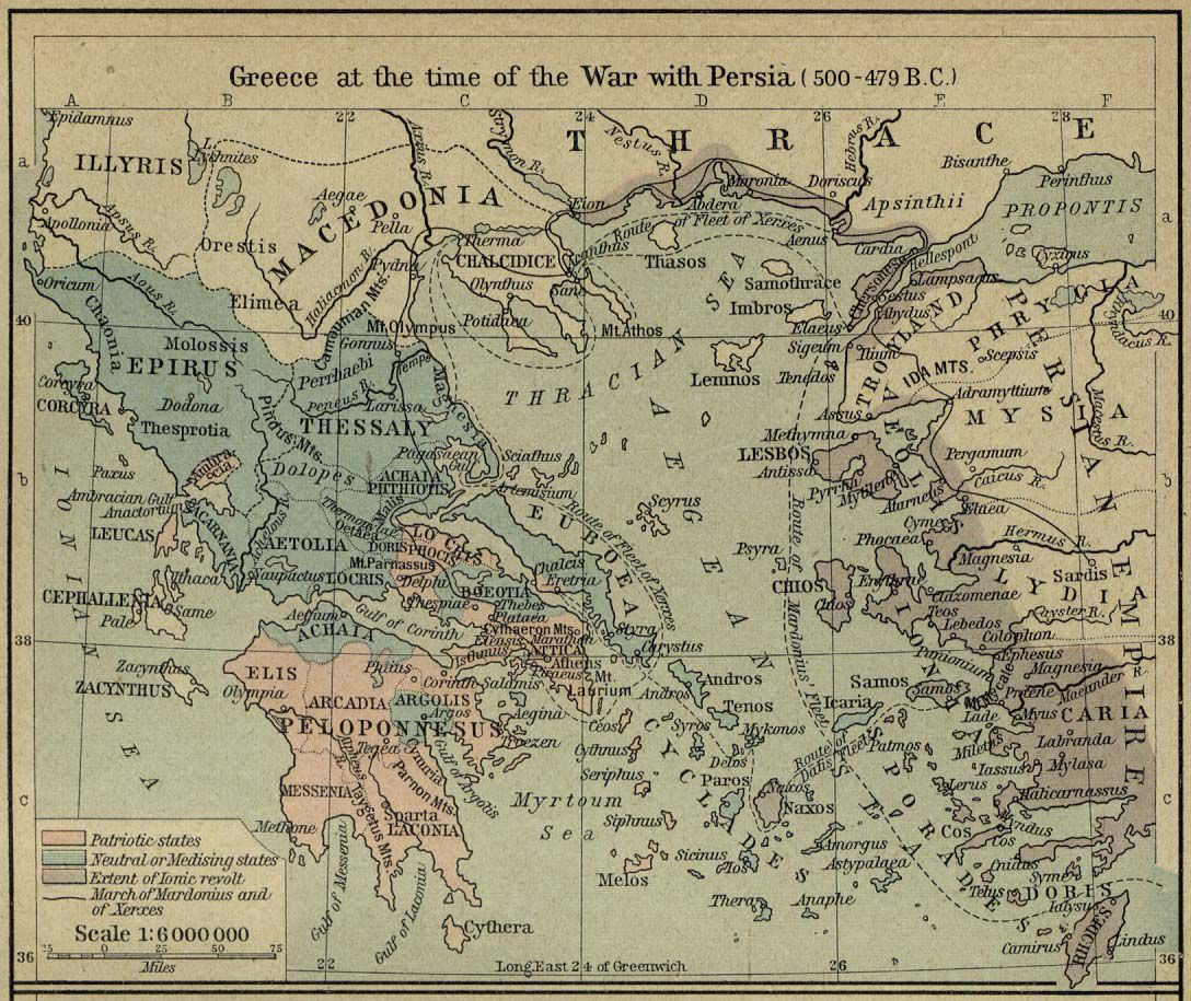 A Group Of Maps Of The Ancient Superpower Of Greece - Map of egypt 500 bc