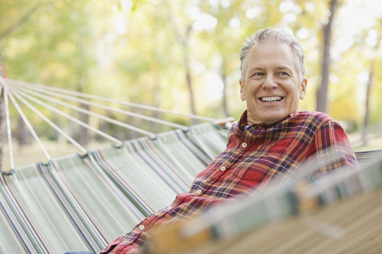 older man in hammock