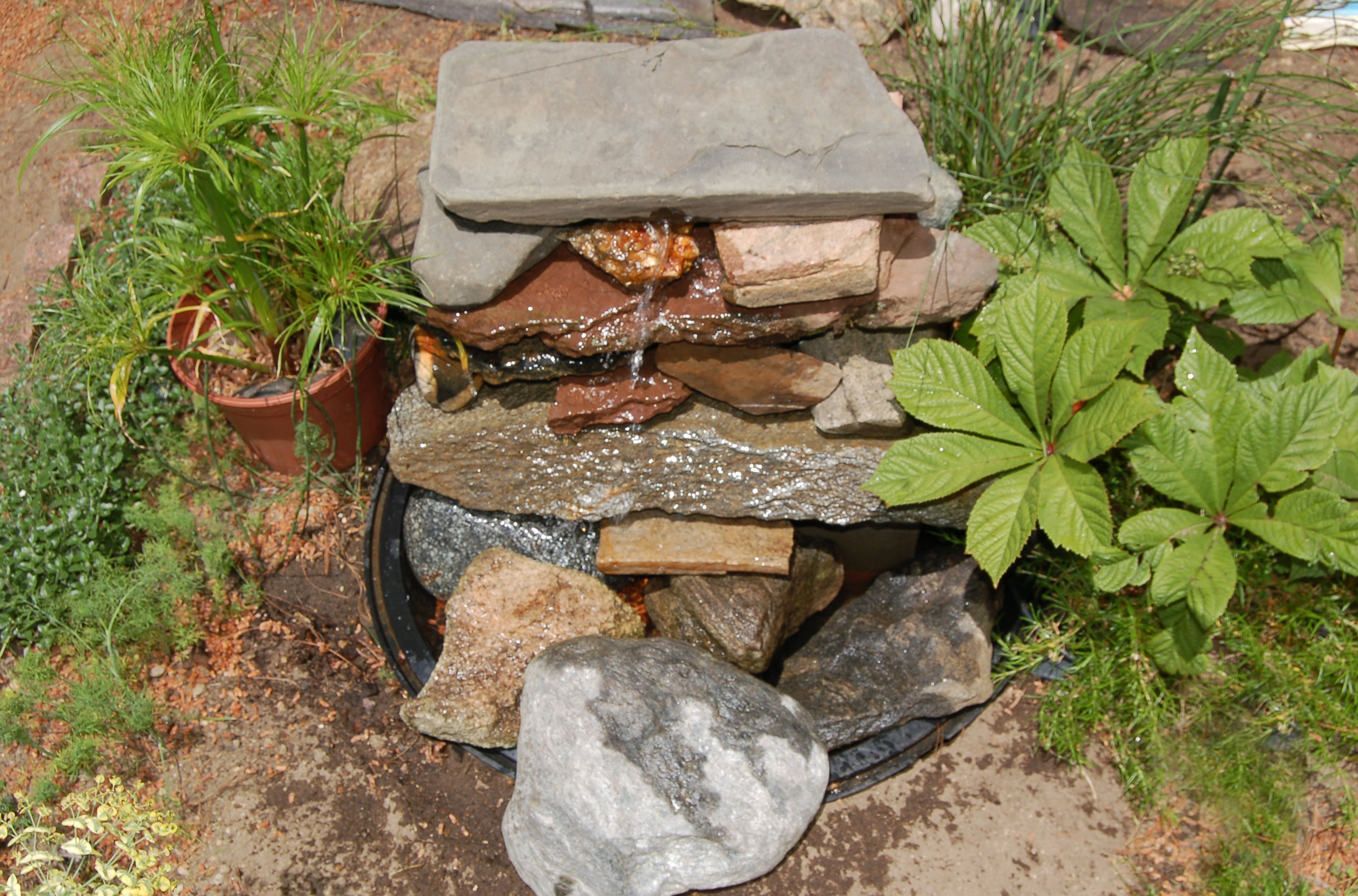 how to build outdoor waterfalls inexpensively