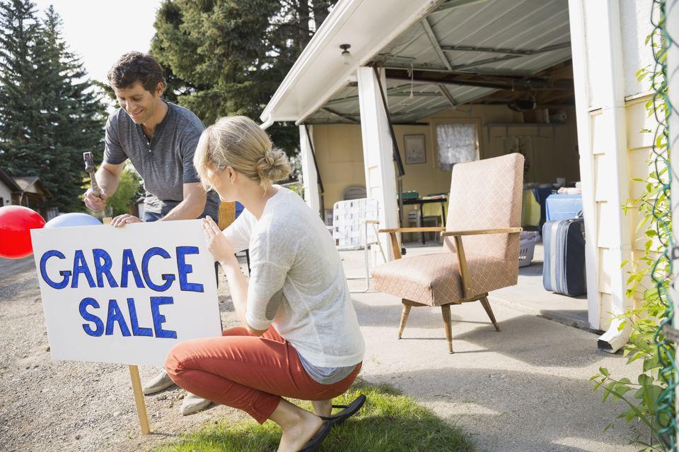 A true garage sale takes place inside the garage.