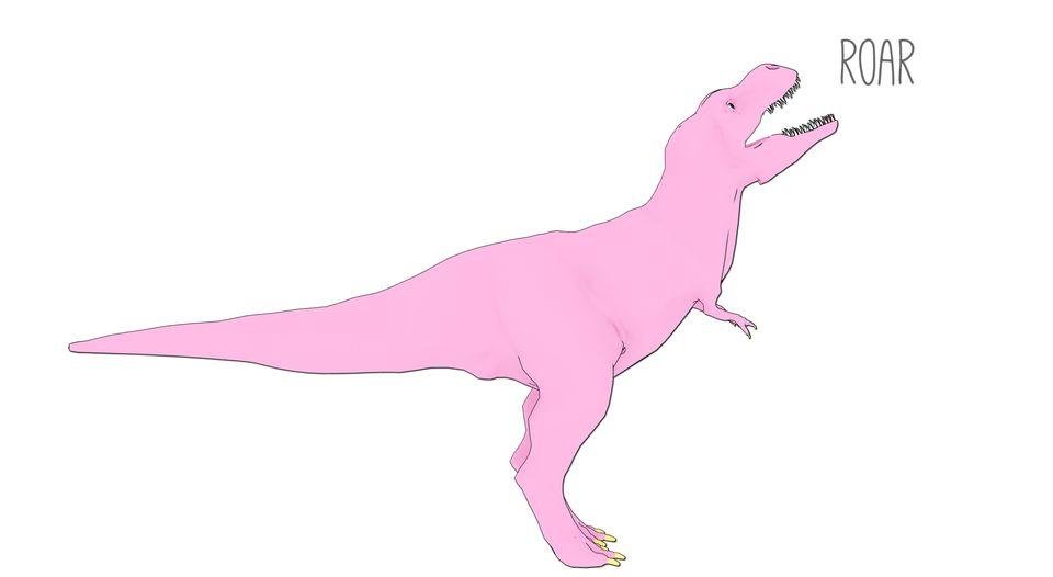 Pink dinosaur illustration