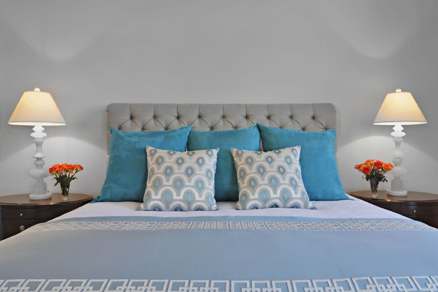 throughout paint decor coral and grey home peach colors popular turquoise gray bedroom ideas
