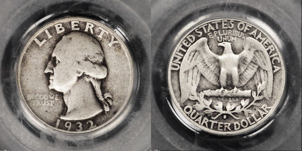 Photo Of A Circulated Silver Washington Quarter