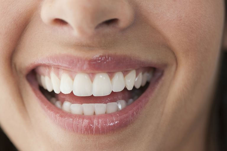 Close up of a woman's smile