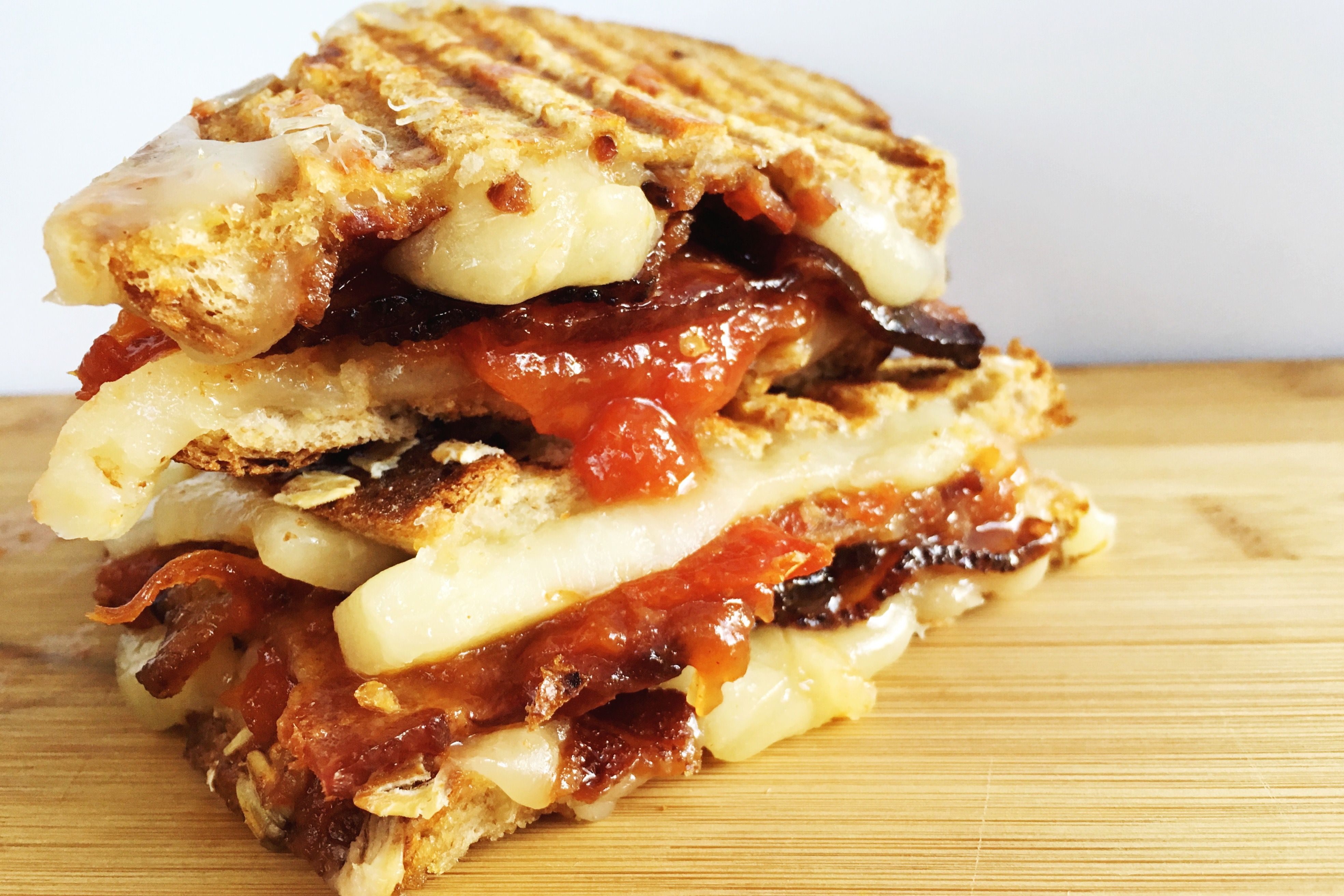Bacon Grilled Cheese with Easy Homemade Tomato Jam