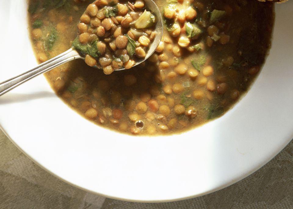 Crockpot vegetarian lentil soup