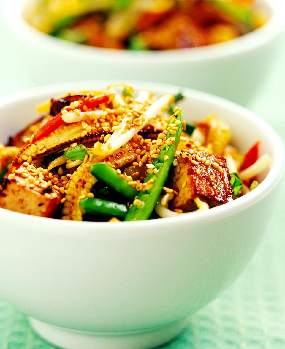 Sesame Tofu with Vegetables