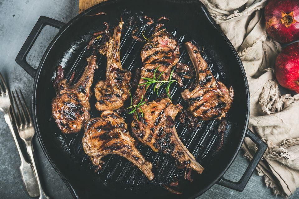 how to cook rack of lamb in frying pan