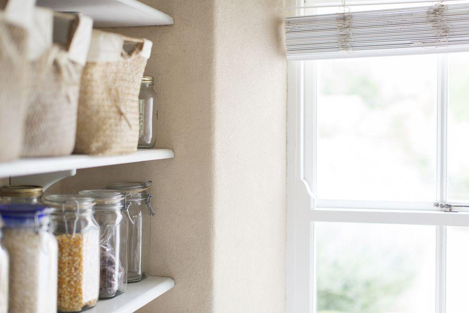 Declutter the pantry shelf by shelf