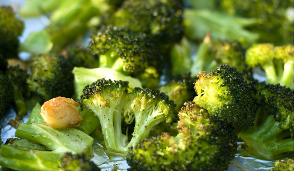 Roasted Broccoli with Sauteed Fresh Garlic
