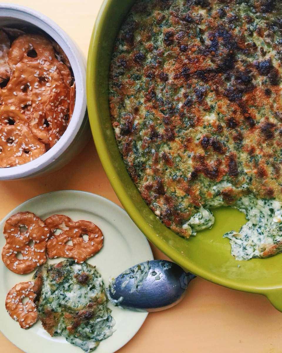 Cheesy Kale and Scallion Dip