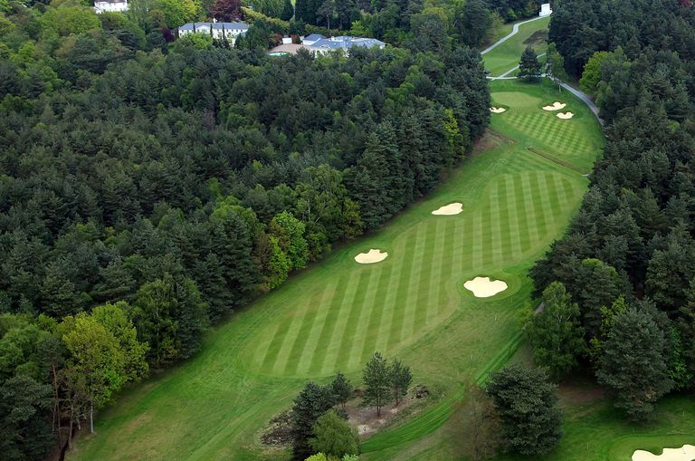 14th fairway at Wentworth Club golf course in England