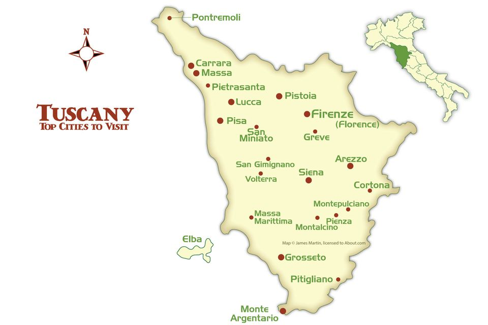 Tuscany Cities Map And Tourism Guide - Map tuscany