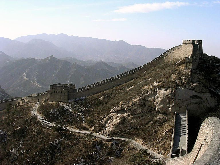 The Great Wall of China, in winter