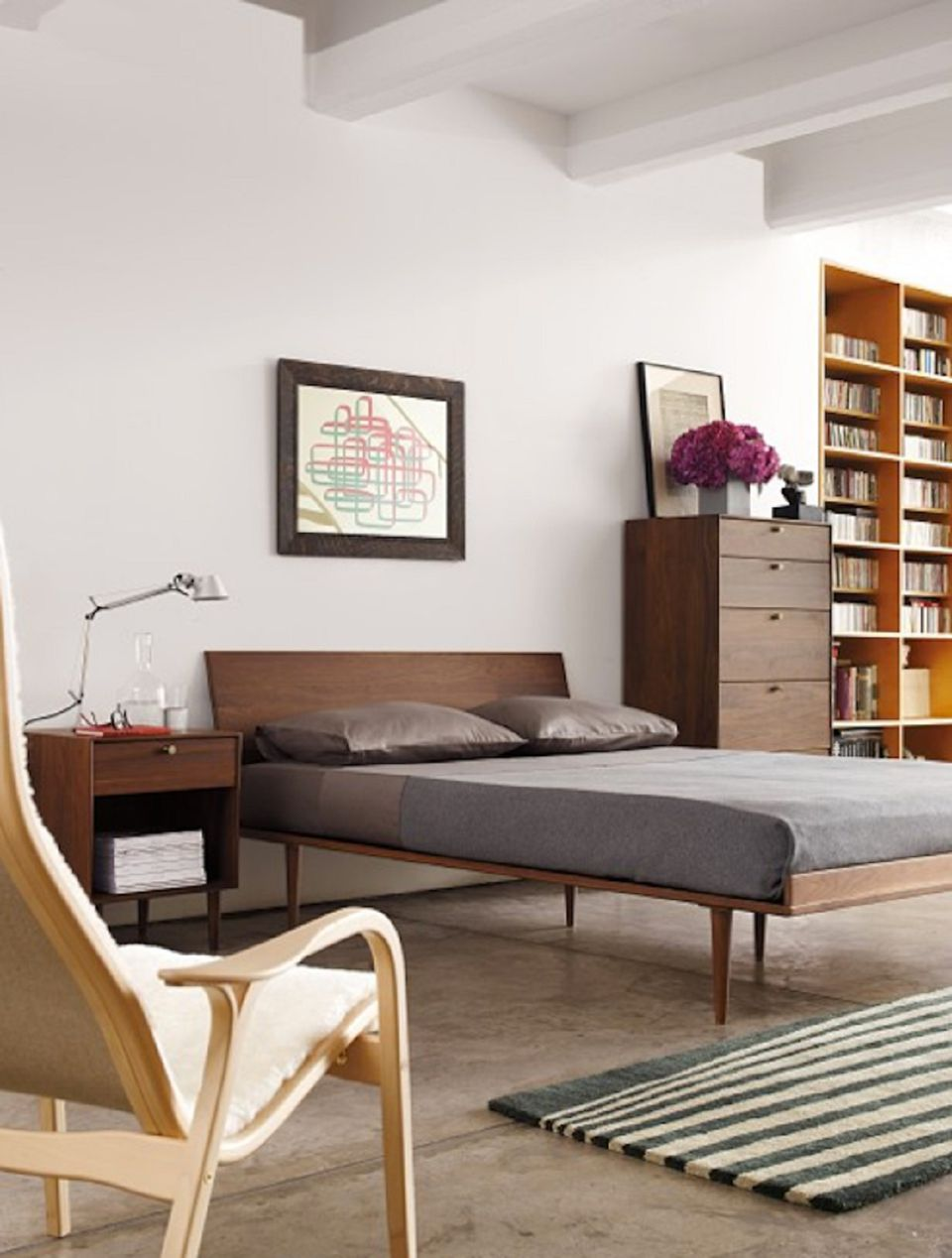bedroom modern century fashionable color mid furniture