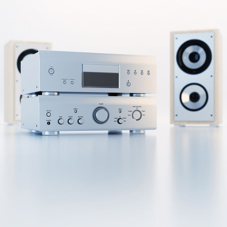 A home stereo system with two-way speakers