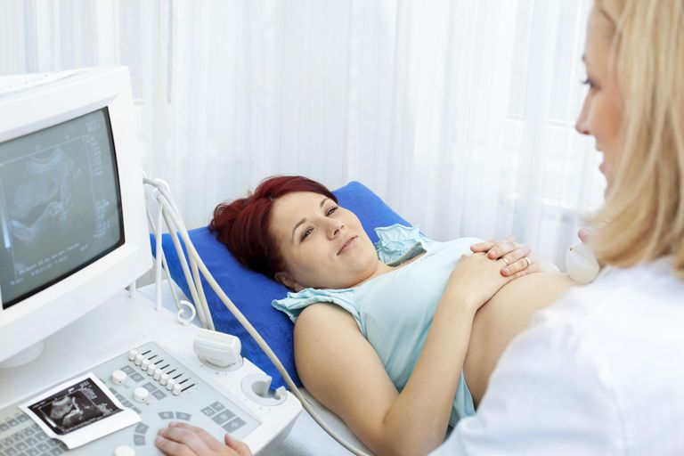 Pregnant Woman Having An Ultrasound