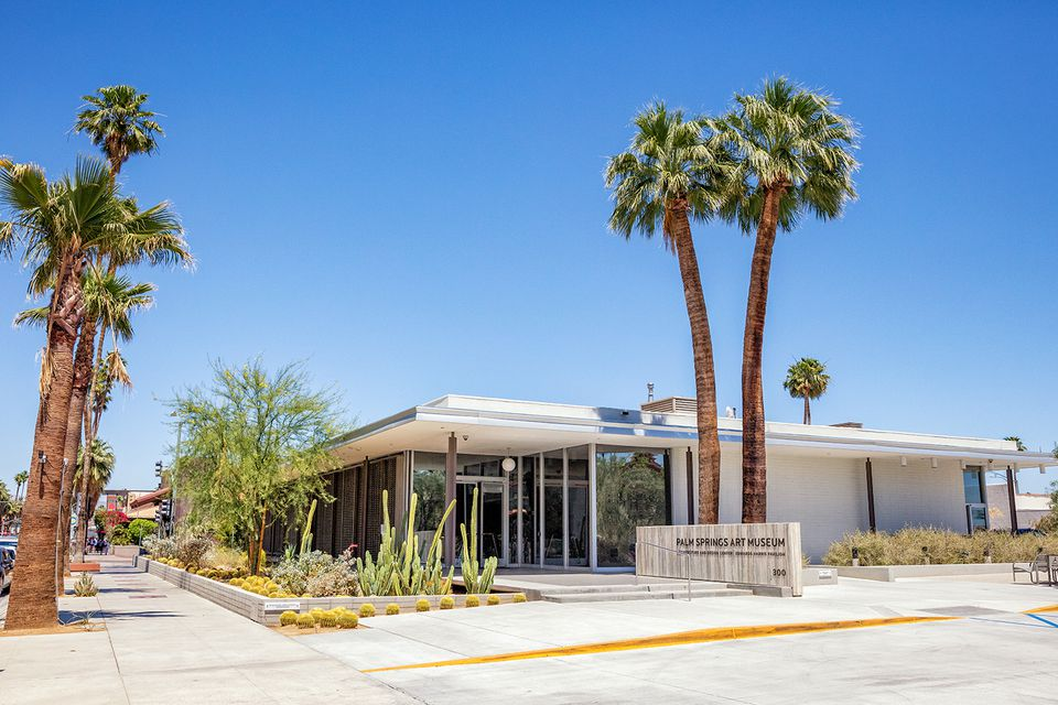 Mid century business district palm springs