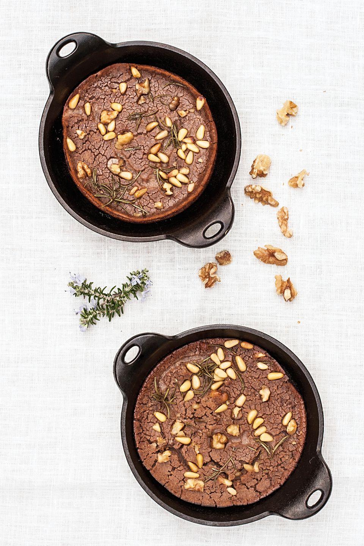 Castagnaccio - Tuscan Chestnut Cake