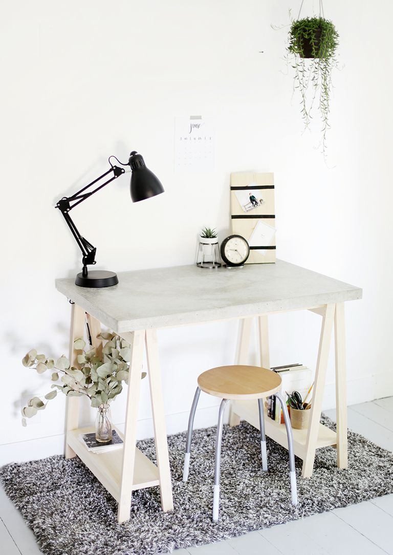 Design Desk Diy 13 free diy desk plans you can build today with concrete desktop from home depot