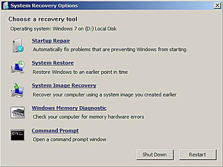 How to format c from a system repair disc a screenshot of the system recovery options in windows 7 ccuart Gallery
