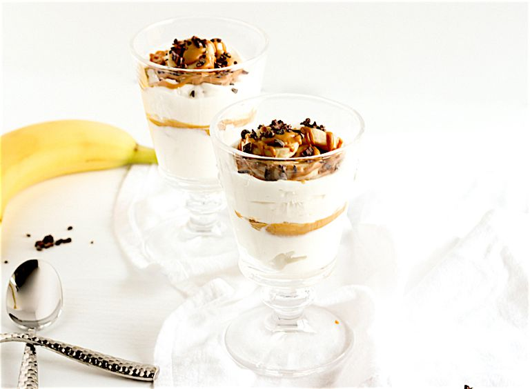 Peanut butter banana parfait