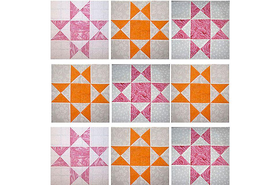 12 Ohio Star Quilt Block Pattern