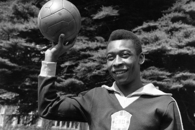 Pele, regarded as the greatest soccer player in the world