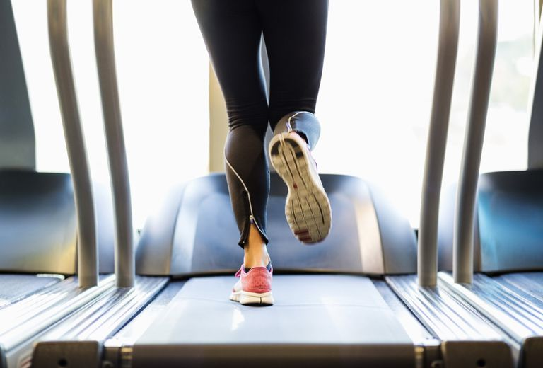 Vigorous physical activity - running on a treadmill