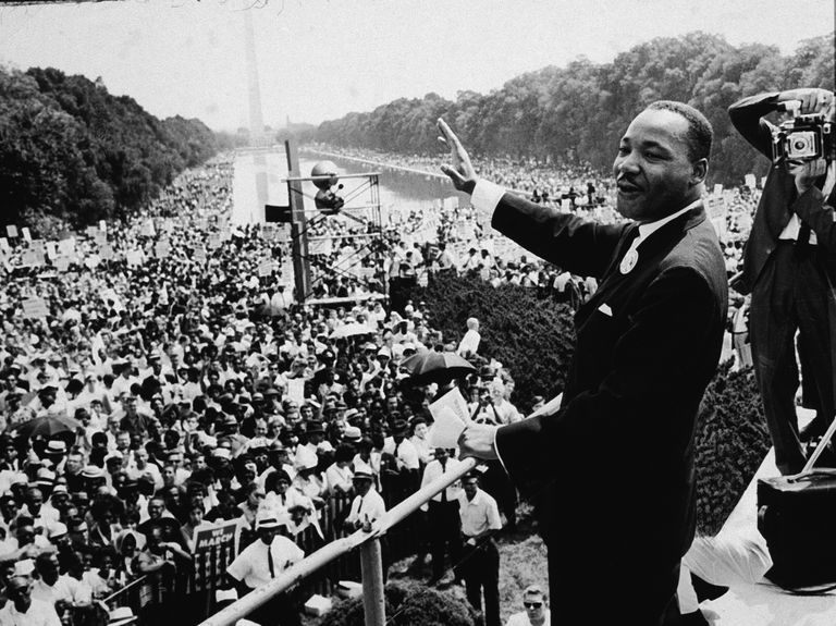 King at the March on Washington, 1963.