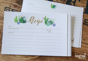 Recipes cards with cactus