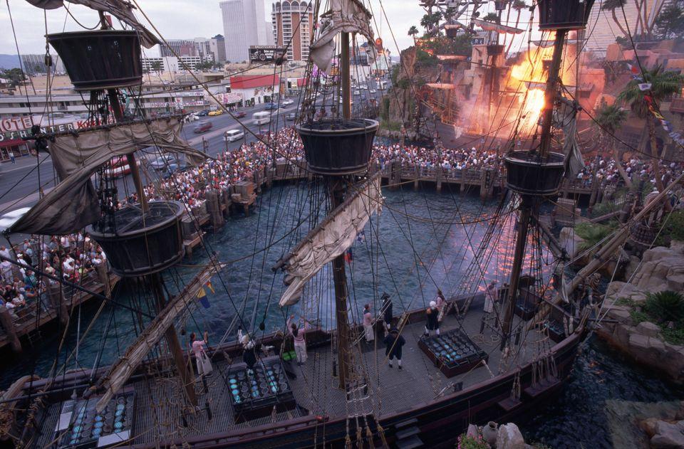 Pirate Ship Battle at Treasure Island