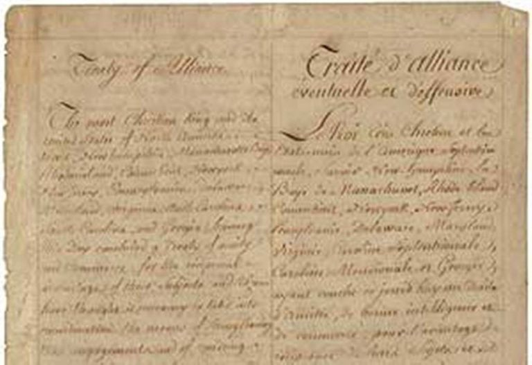 1778 Treaty of Alliance