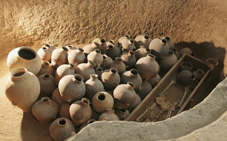 Neolithic Burial, Liuwan Museum of Ancient Painted Pottery, Qinghai Province, China