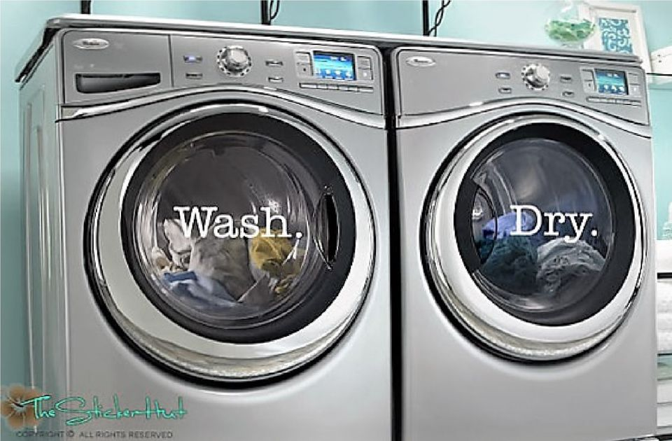 Washer Dryer Decals BIG