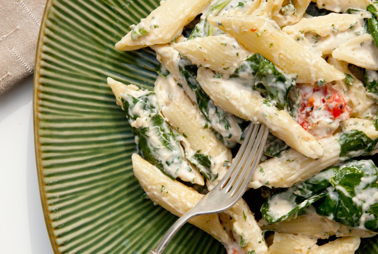 Low-Fat Spinach and Ricotta Pasta Recipe