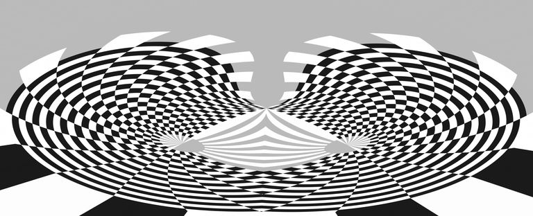 Black and White Line Pattern. Abstract Design