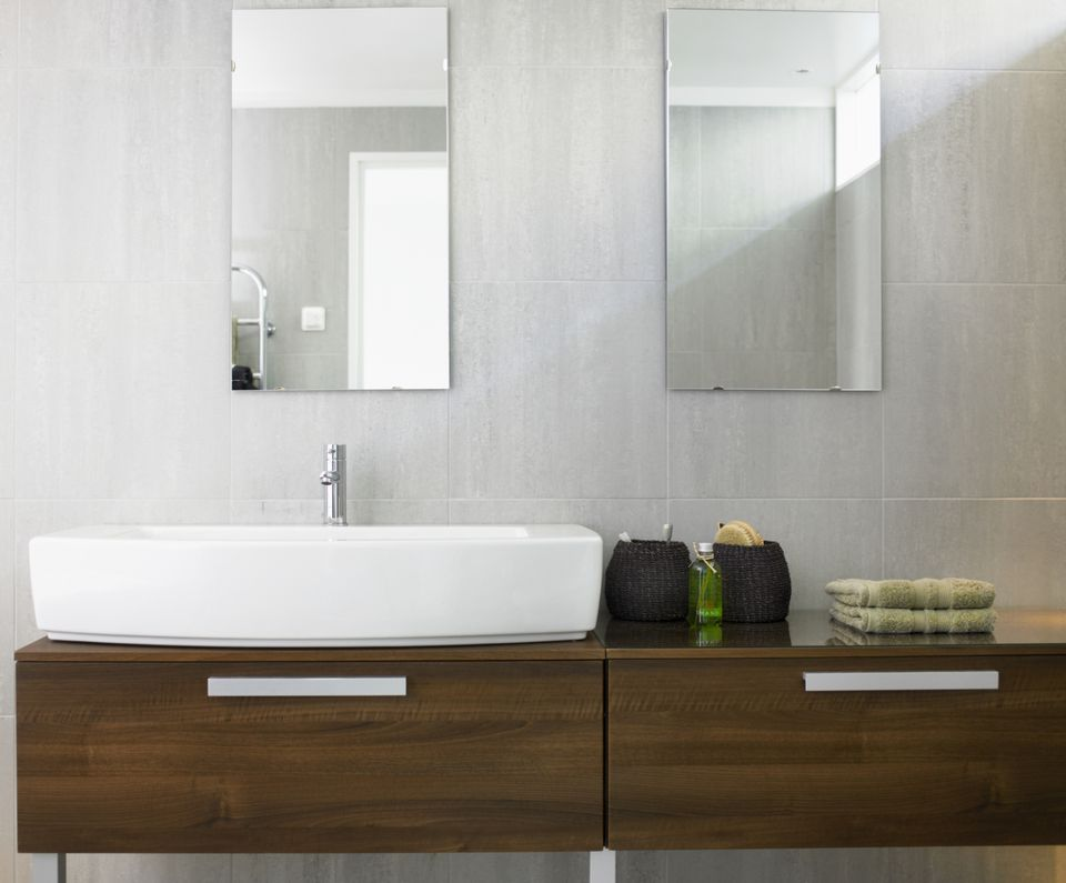Swedish Wooden Bathroom Counter Cantilever 84950666