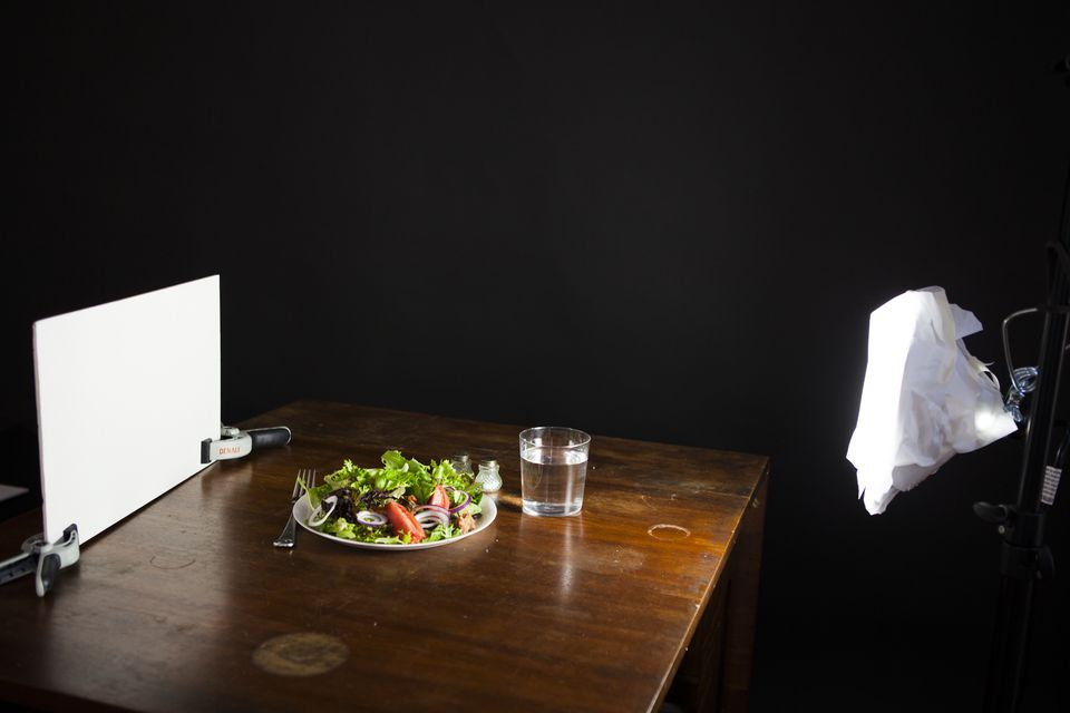 DIY softbox in action