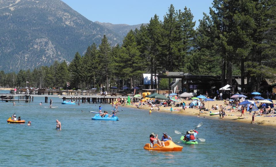 Summer holiday fun at Lake Tahoe beaches and picnic areas.