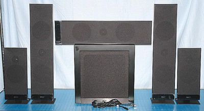 home theater front speakers. kef t205 5.1 channel home theater speaker system - photo of front view speakers