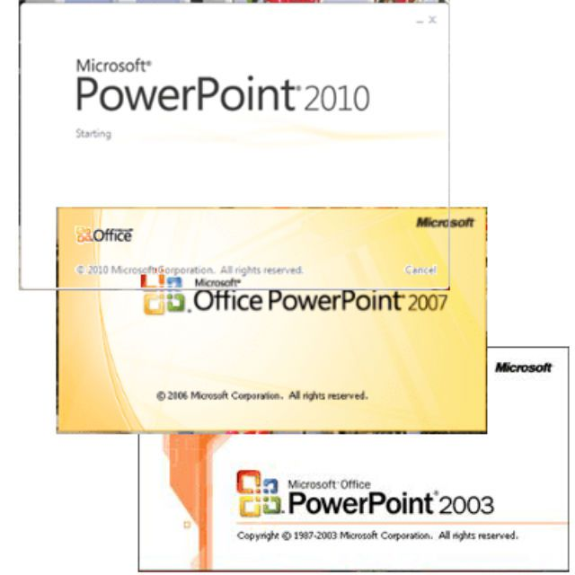 PowerPoint versions