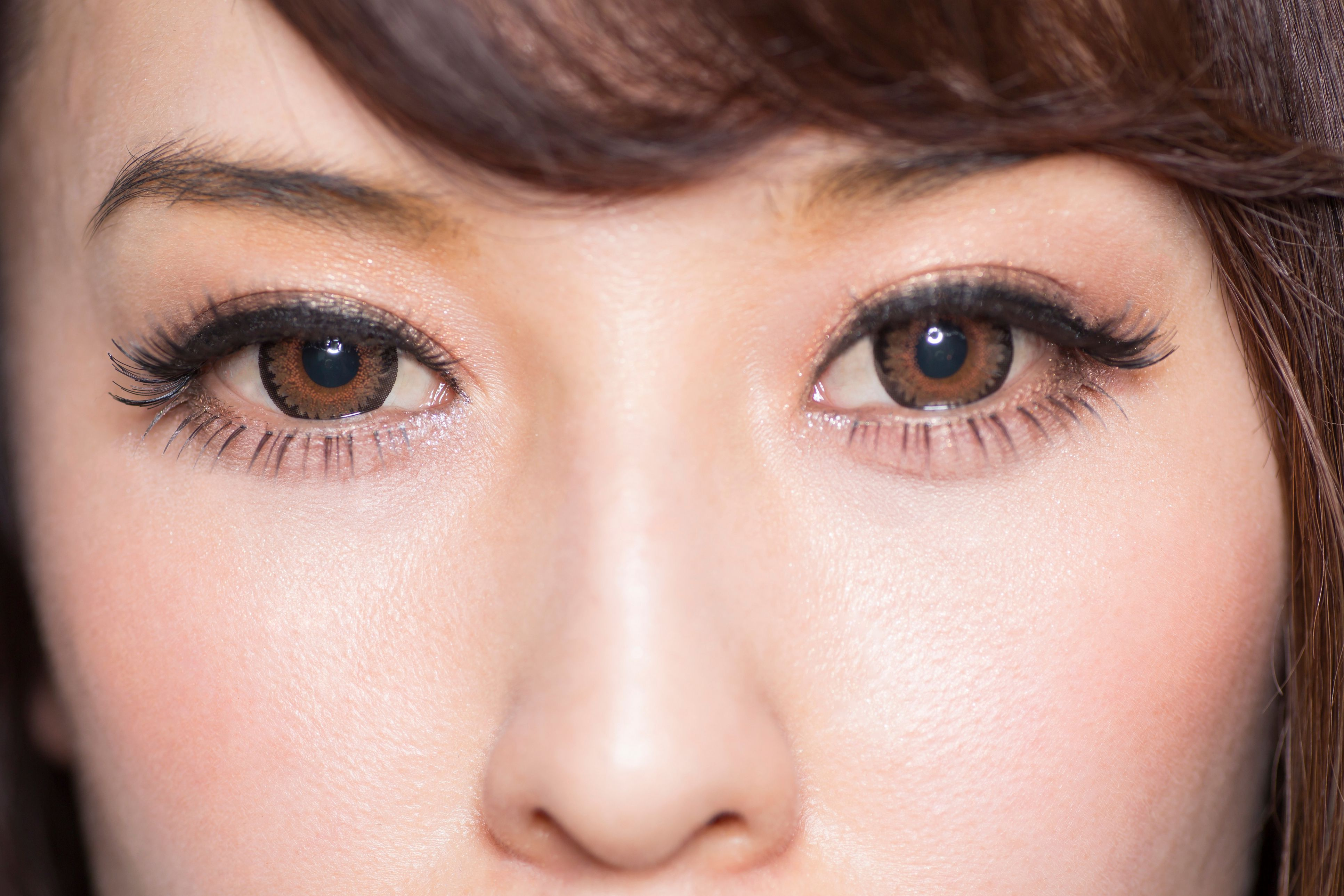 Makeup for small brown eyes