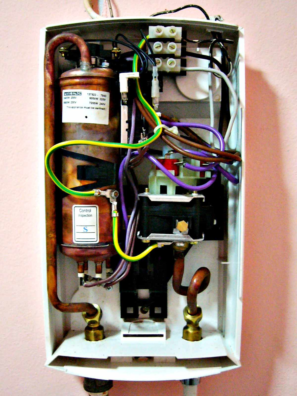 Arreglo de problemas de un calentador de agua eléctrico