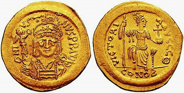 Solidus from the reign of Justin II