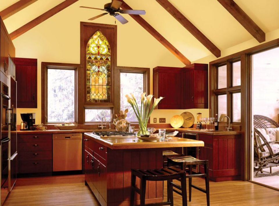 Ideas and pictures of kitchen paint colors for Red and yellow kitchen ideas